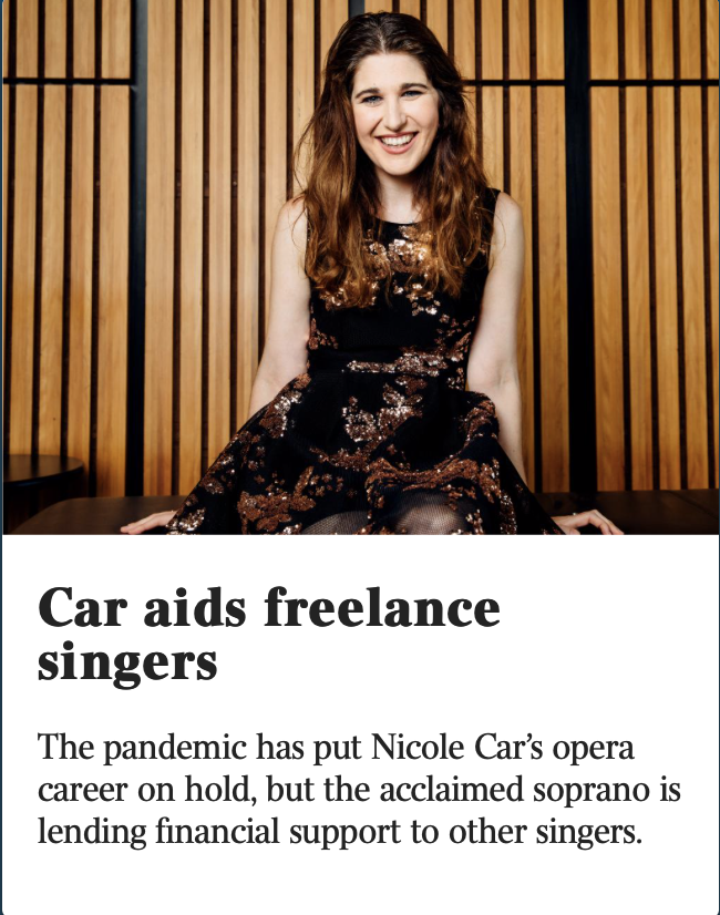 Car aids freelance singers